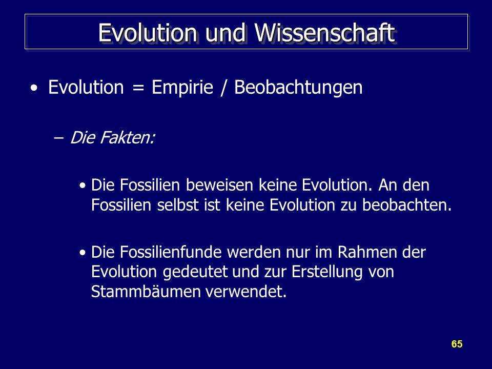 Evolution und Wissenschaft