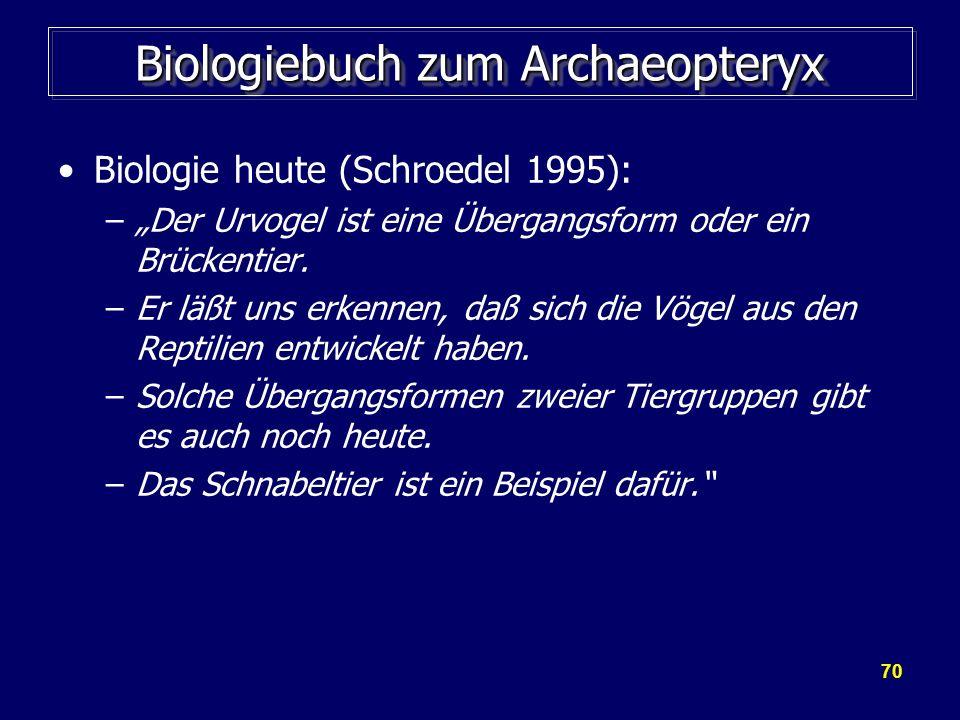 Biologiebuch zum Archaeopteryx