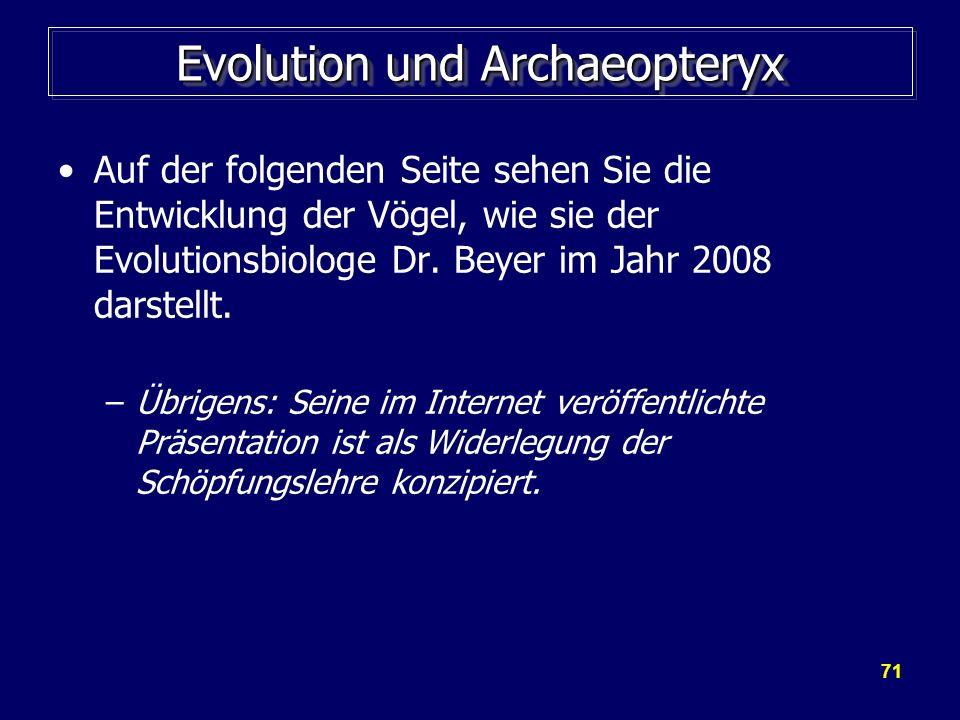 Evolution und Archaeopteryx