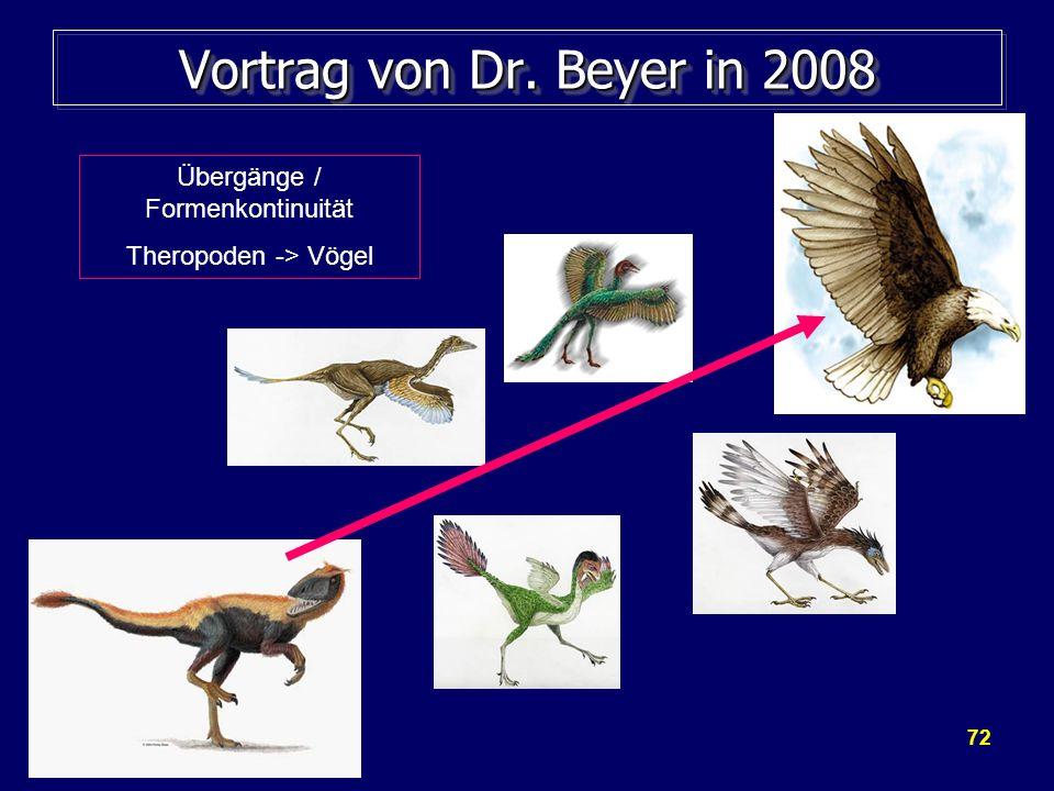 Vortrag von Dr. Beyer in 2008 Übergänge / Formenkontinuität