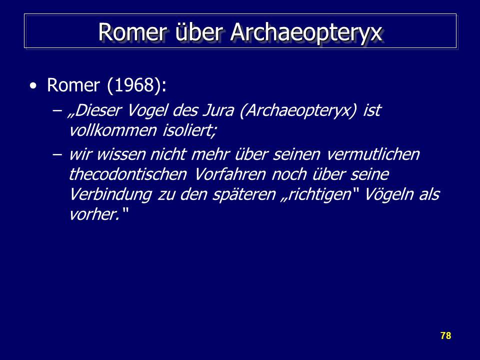 Romer über Archaeopteryx