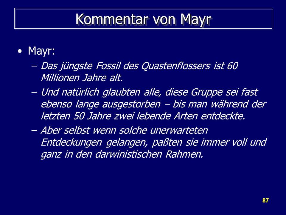Kommentar von Mayr Mayr: