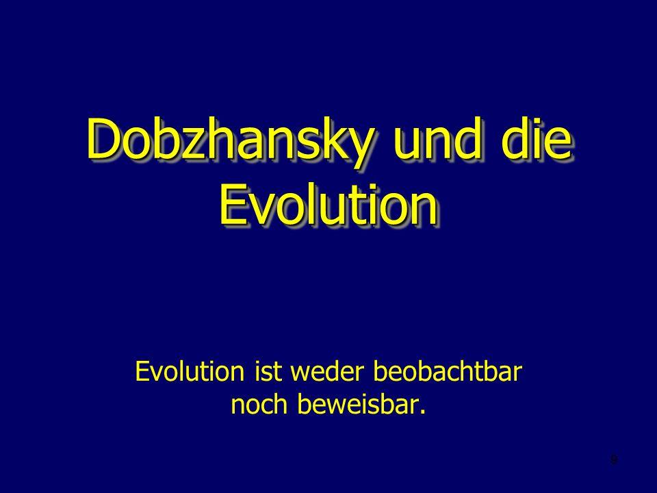 Dobzhansky und die Evolution
