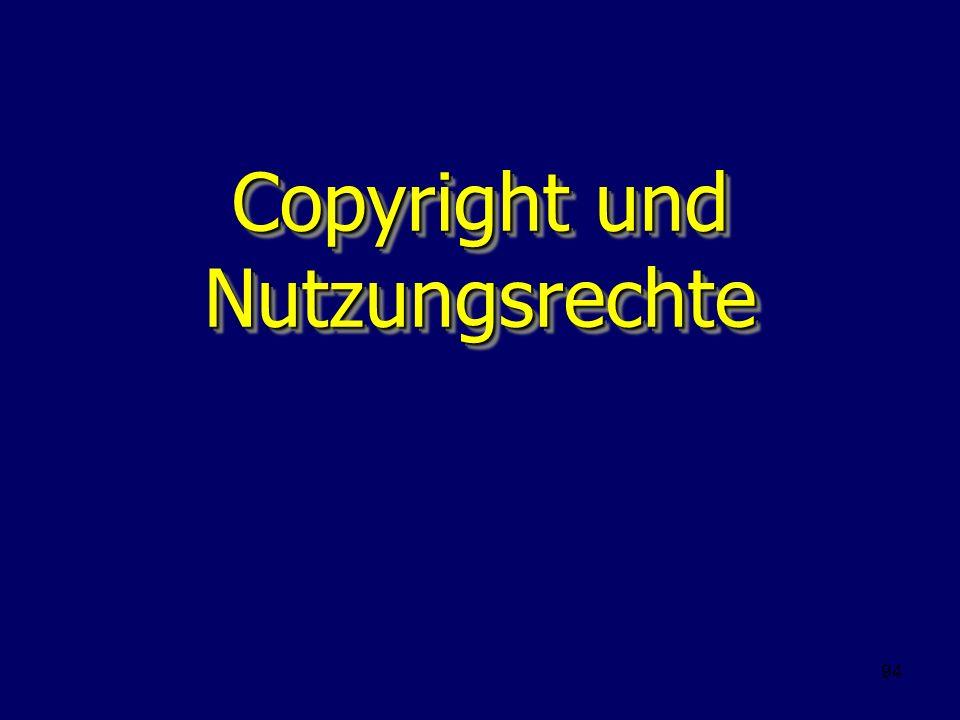 Copyright und Nutzungsrechte