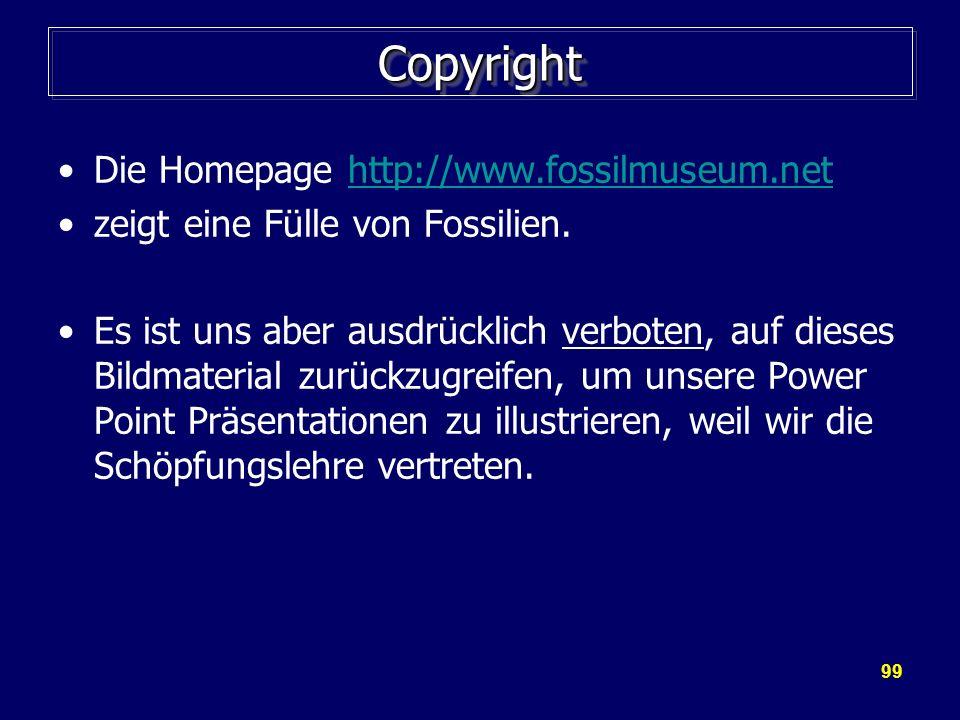 Copyright Die Homepage http://www.fossilmuseum.net