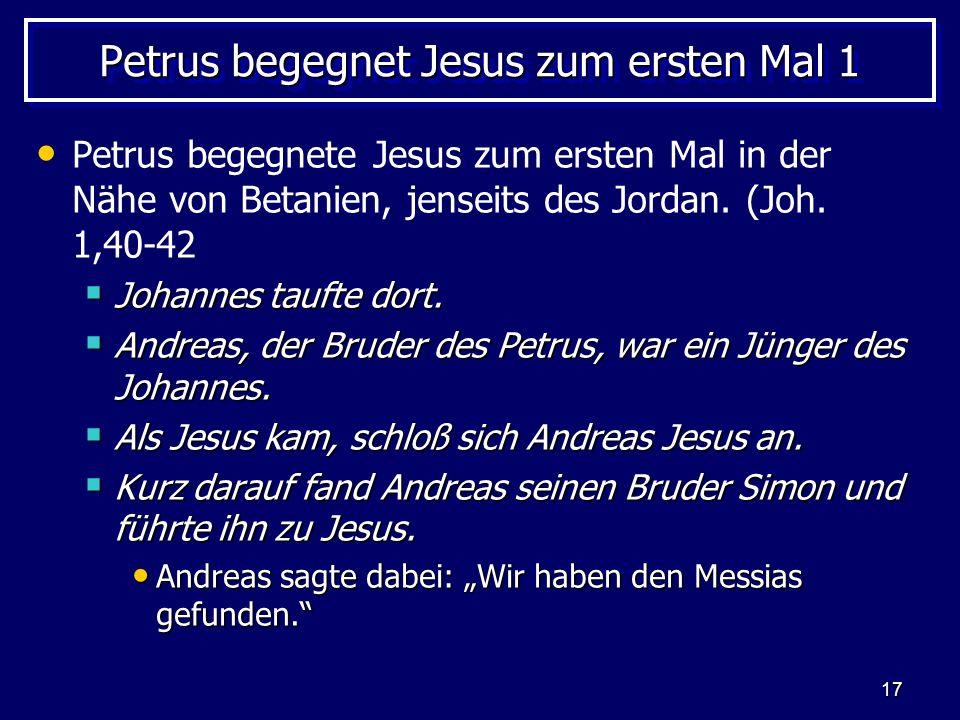 Petrus begegnet Jesus zum ersten Mal 1