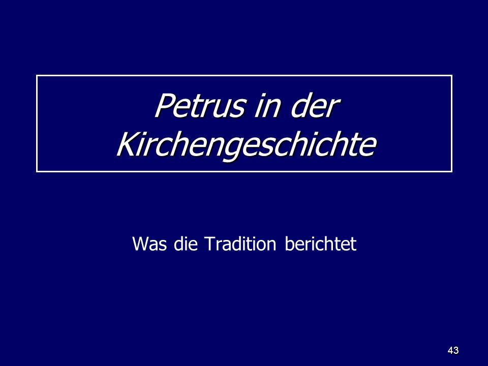 Petrus in der Kirchengeschichte