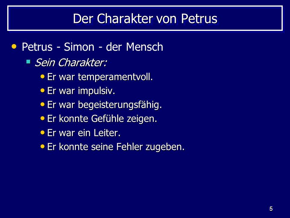 Der Charakter von Petrus