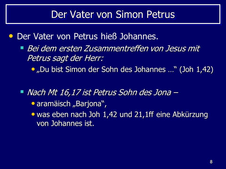 Der Vater von Simon Petrus