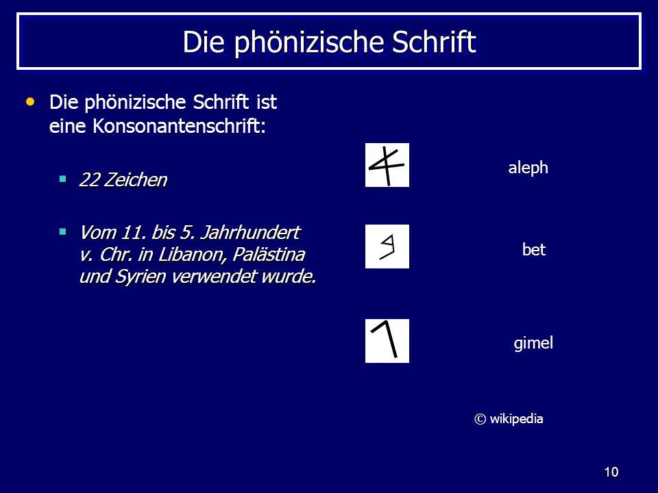 Die phönizische Schrift