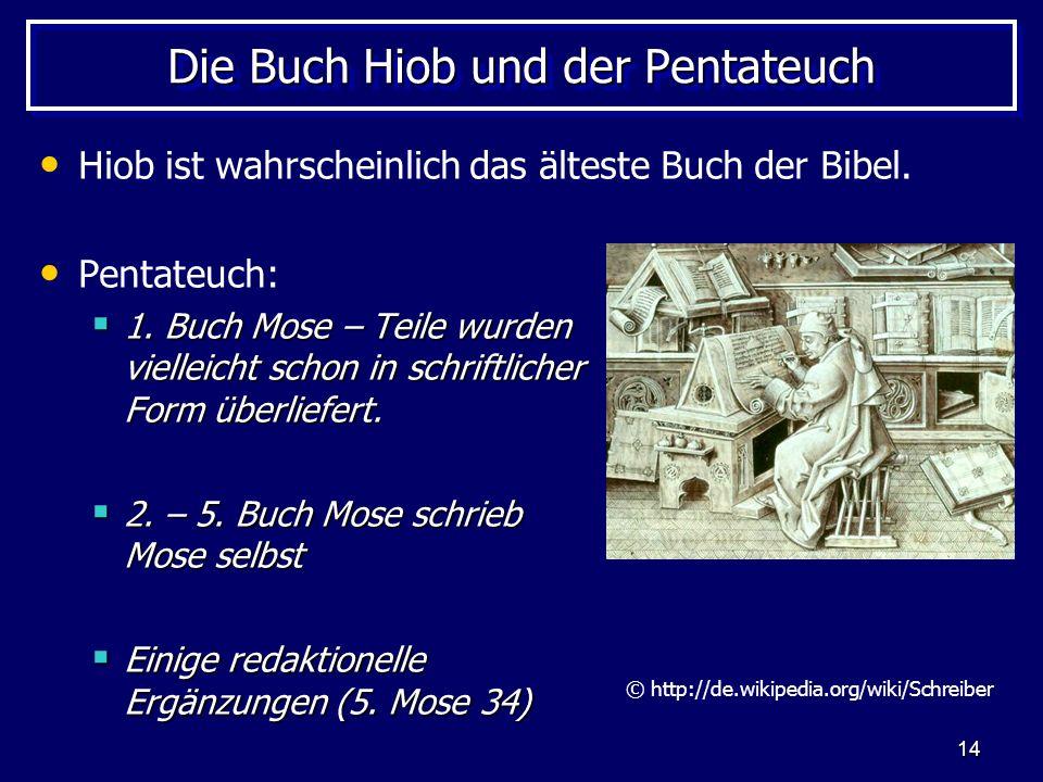 Die Buch Hiob und der Pentateuch