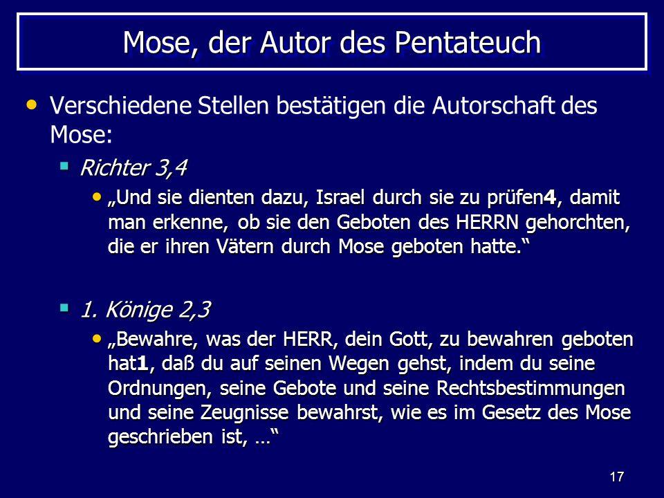 Mose, der Autor des Pentateuch