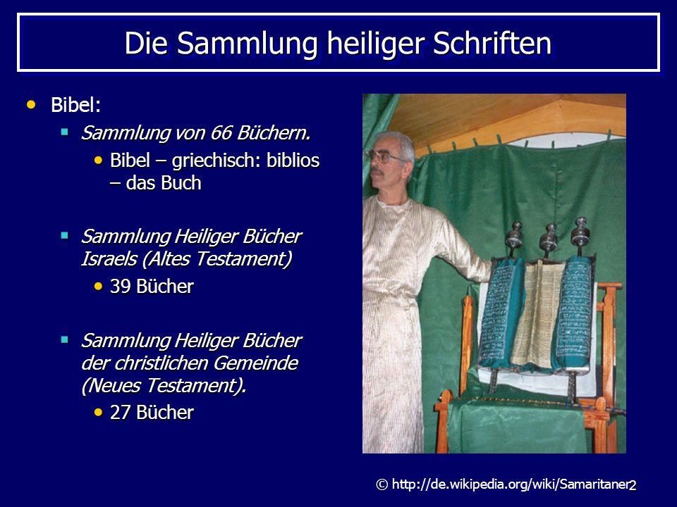 Die Sammlung heiliger Schriften