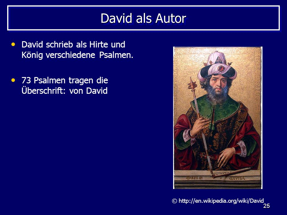 © http://en.wikipedia.org/wiki/David