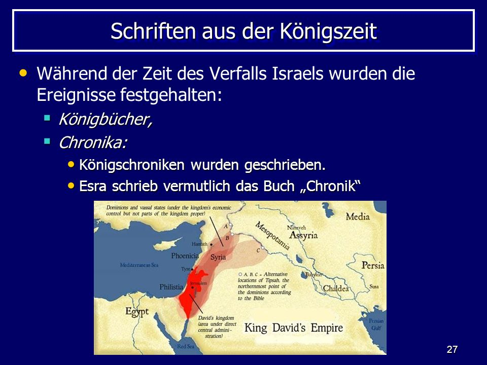 Schriften aus der Königszeit