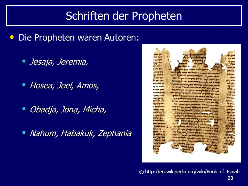 Schriften der Propheten