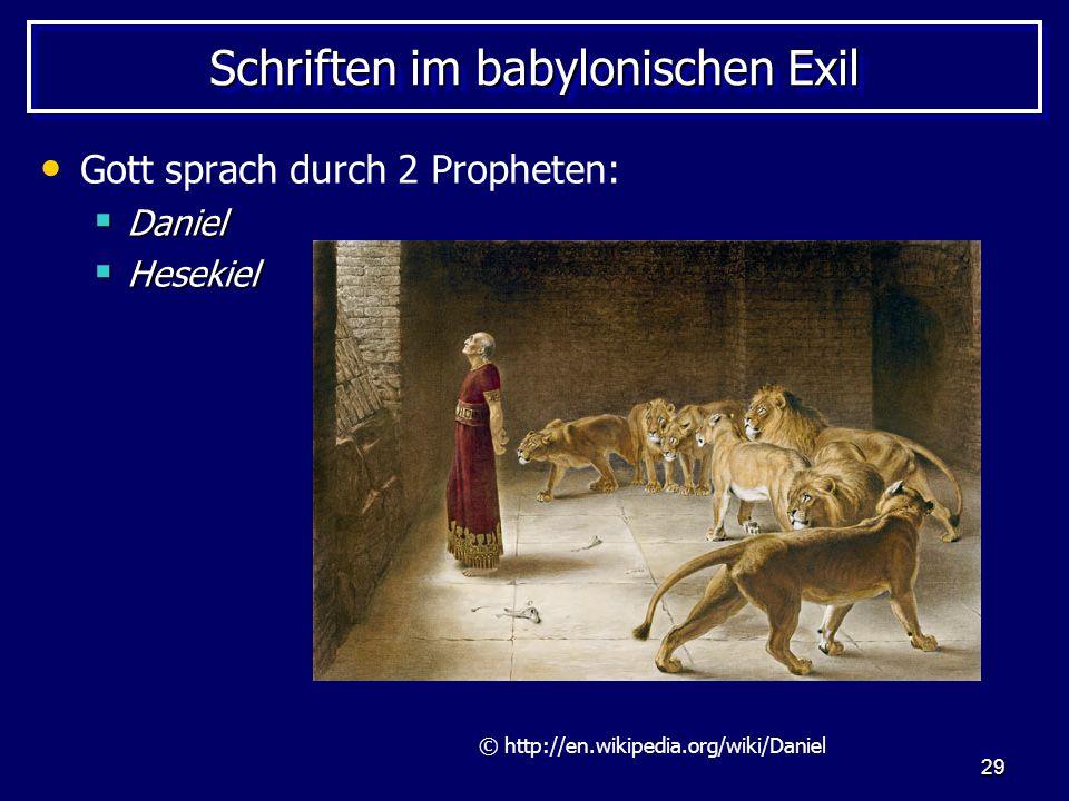 Schriften im babylonischen Exil