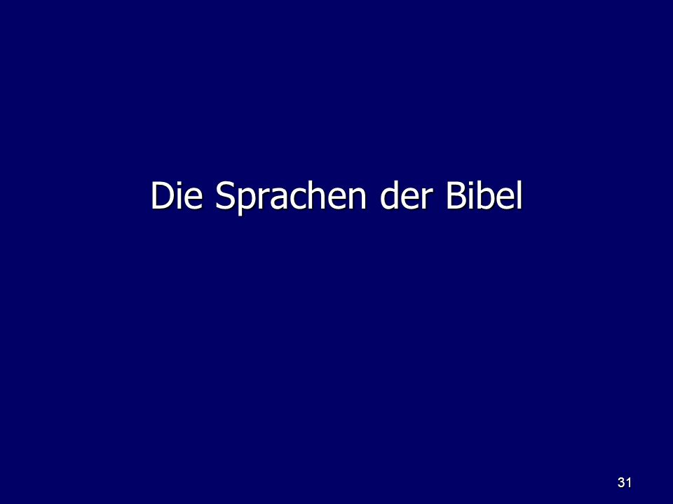 Die Sprachen der Bibel