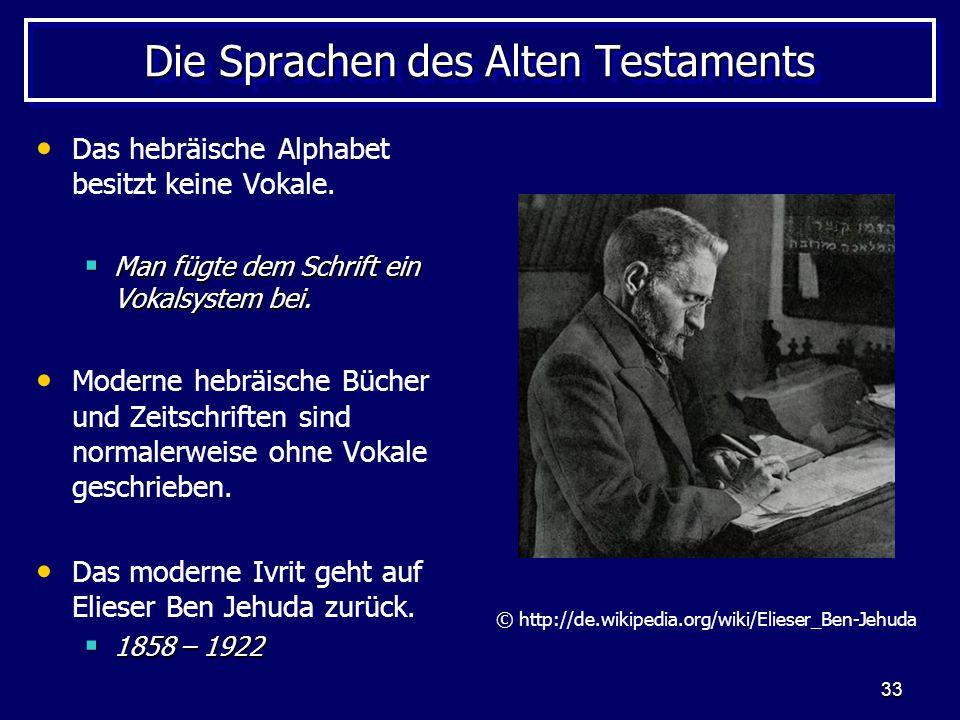 Die Sprachen des Alten Testaments