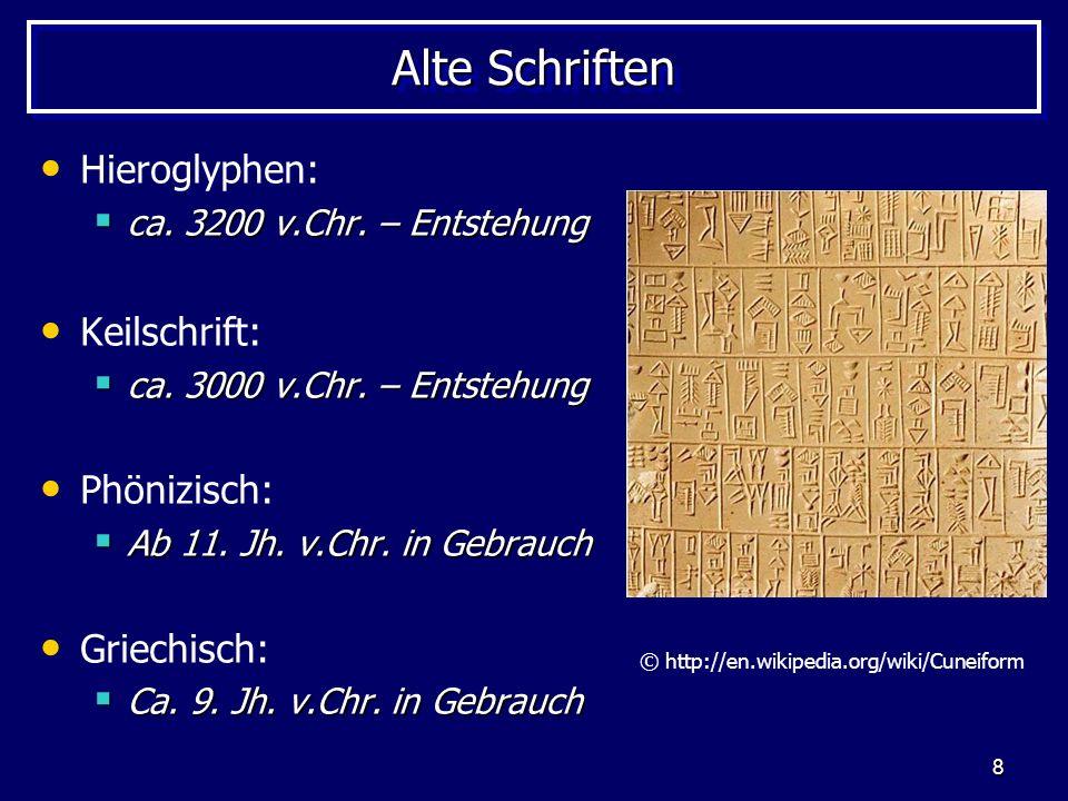 © http://en.wikipedia.org/wiki/Cuneiform