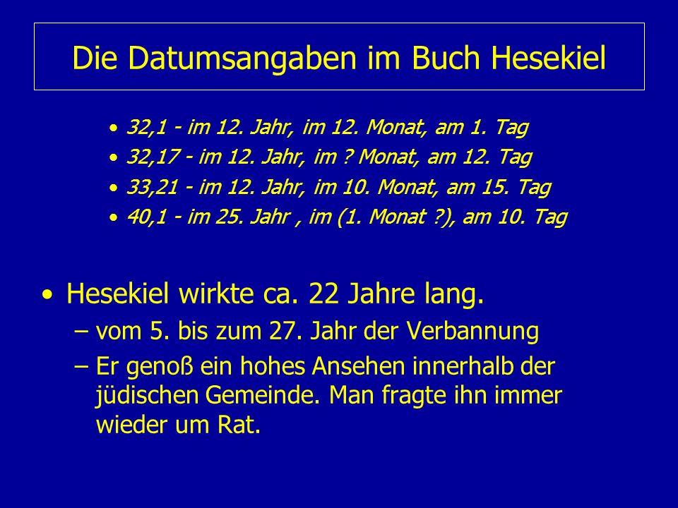 Die Datumsangaben im Buch Hesekiel