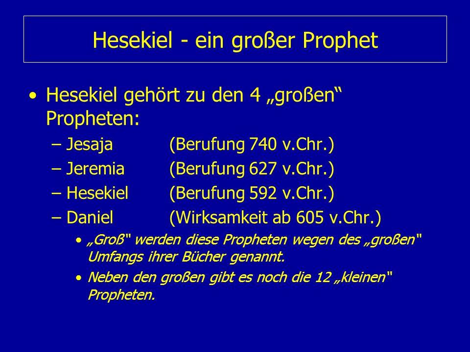 Hesekiel - ein großer Prophet