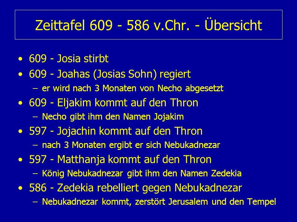 Zeittafel 609 - 586 v.Chr. - Übersicht