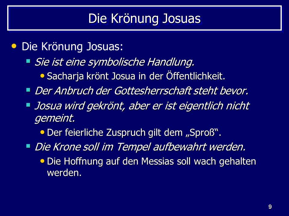 Die Krönung Josuas Die Krönung Josuas: