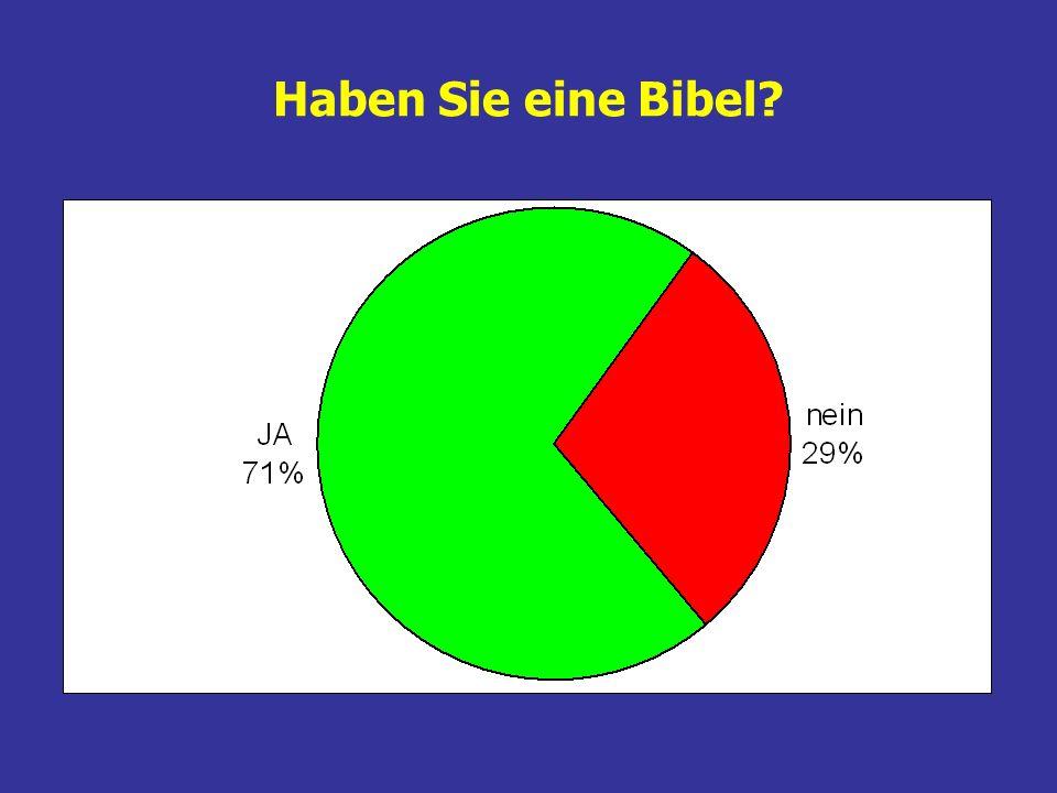 Haben Sie eine Bibel