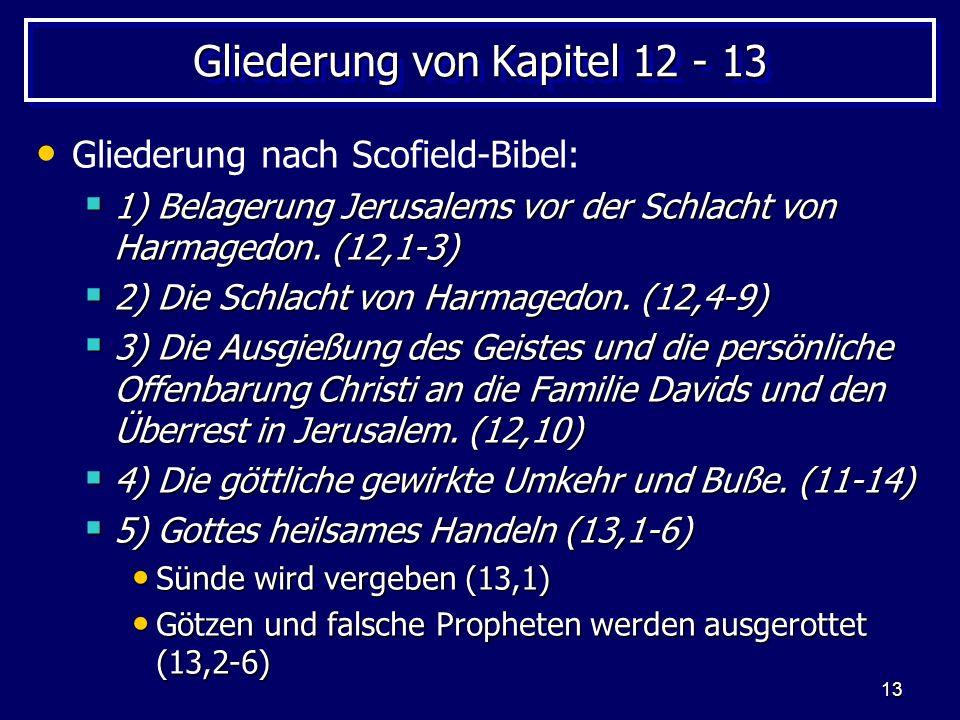 Gliederung von Kapitel 12 - 13