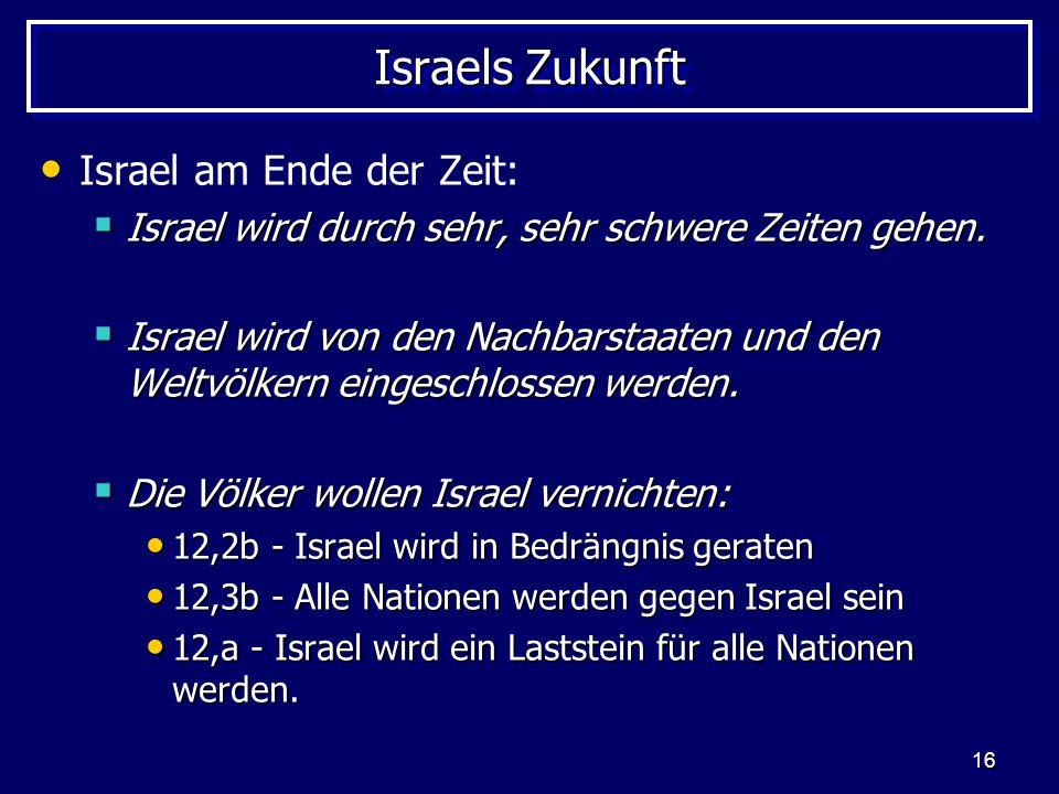 Israels Zukunft Israel am Ende der Zeit: