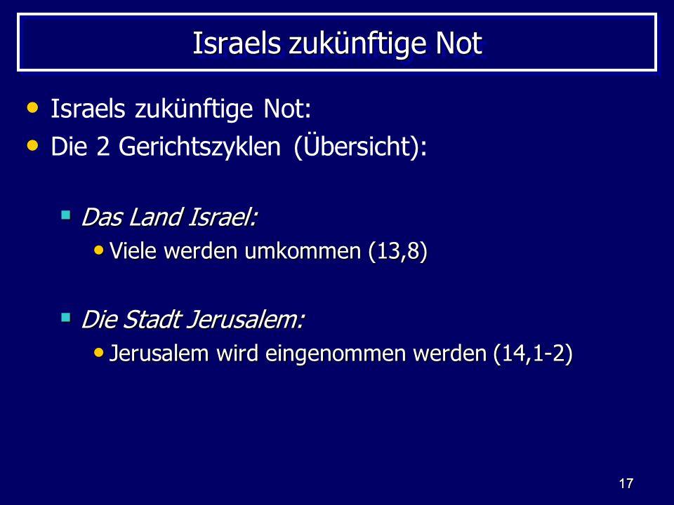 Israels zukünftige Not