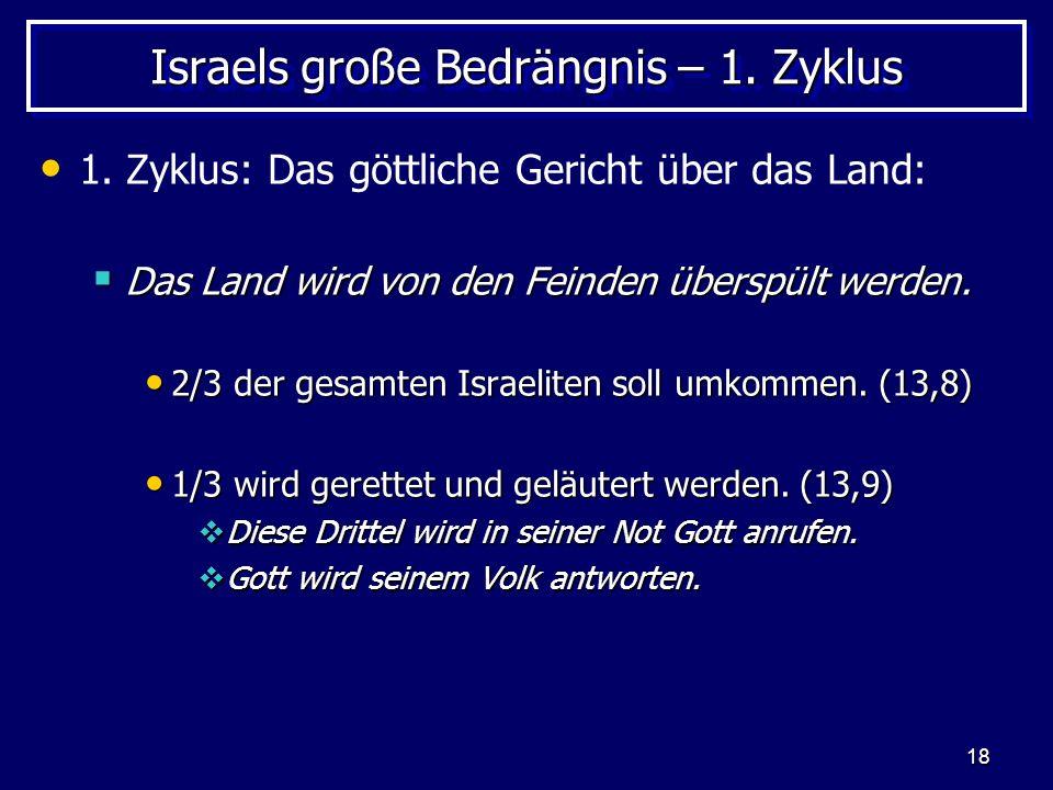 Israels große Bedrängnis – 1. Zyklus