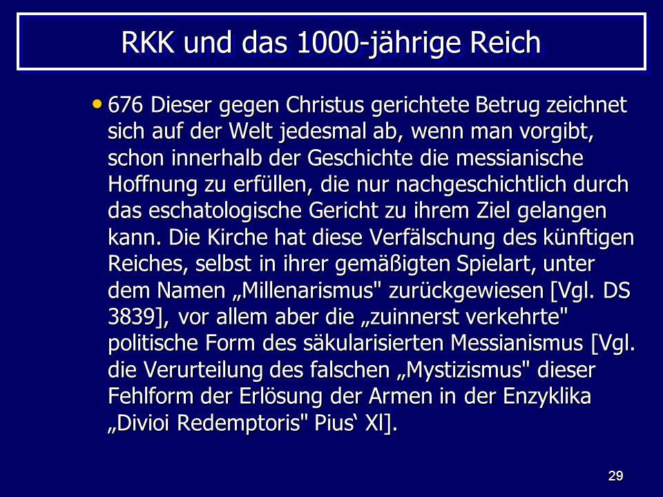 RKK und das 1000-jährige Reich