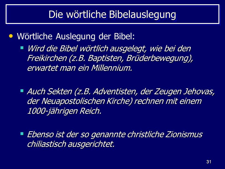Die wörtliche Bibelauslegung