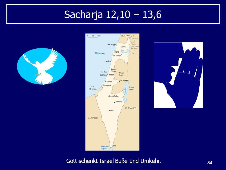 Gott schenkt Israel Buße und Umkehr.