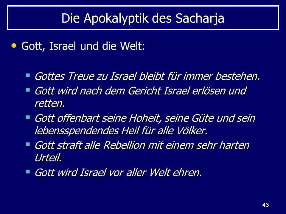 Die Apokalyptik des Sacharja