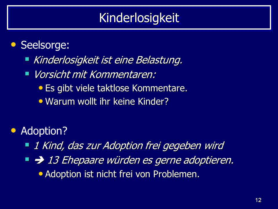 Kinderlosigkeit Seelsorge: Adoption
