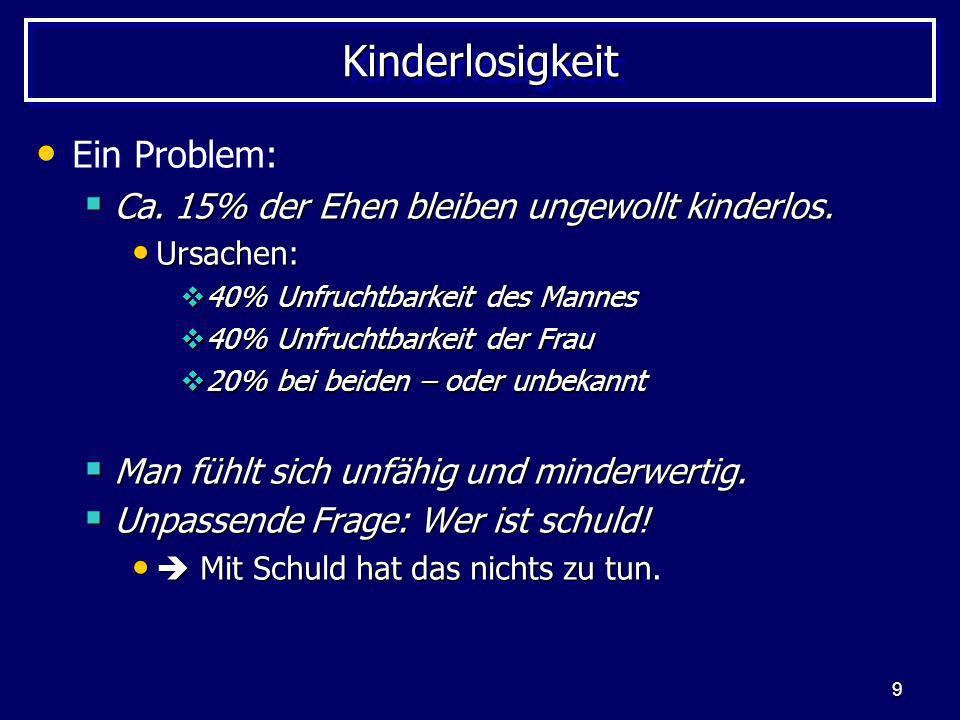 Kinderlosigkeit Ein Problem: