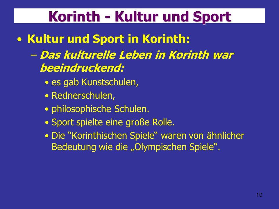 Korinth - Kultur und Sport