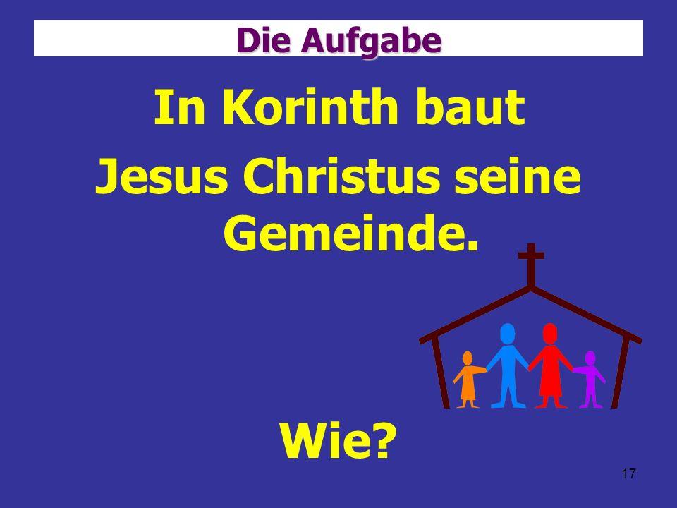 Jesus Christus seine Gemeinde.