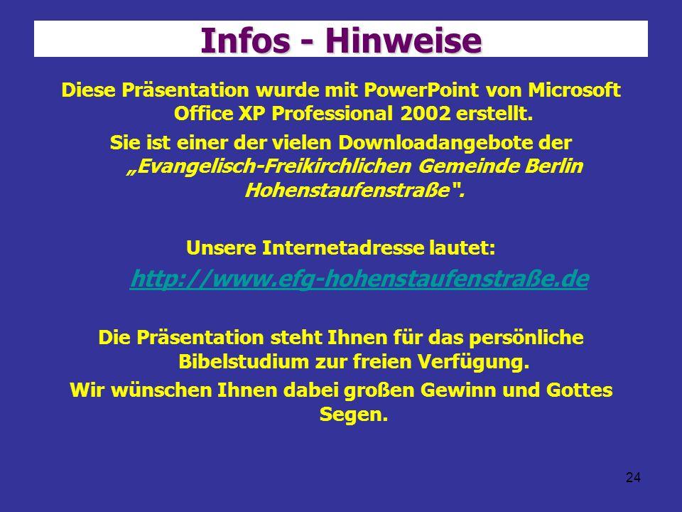 Infos - Hinweise http://www.efg-hohenstaufenstraße.de