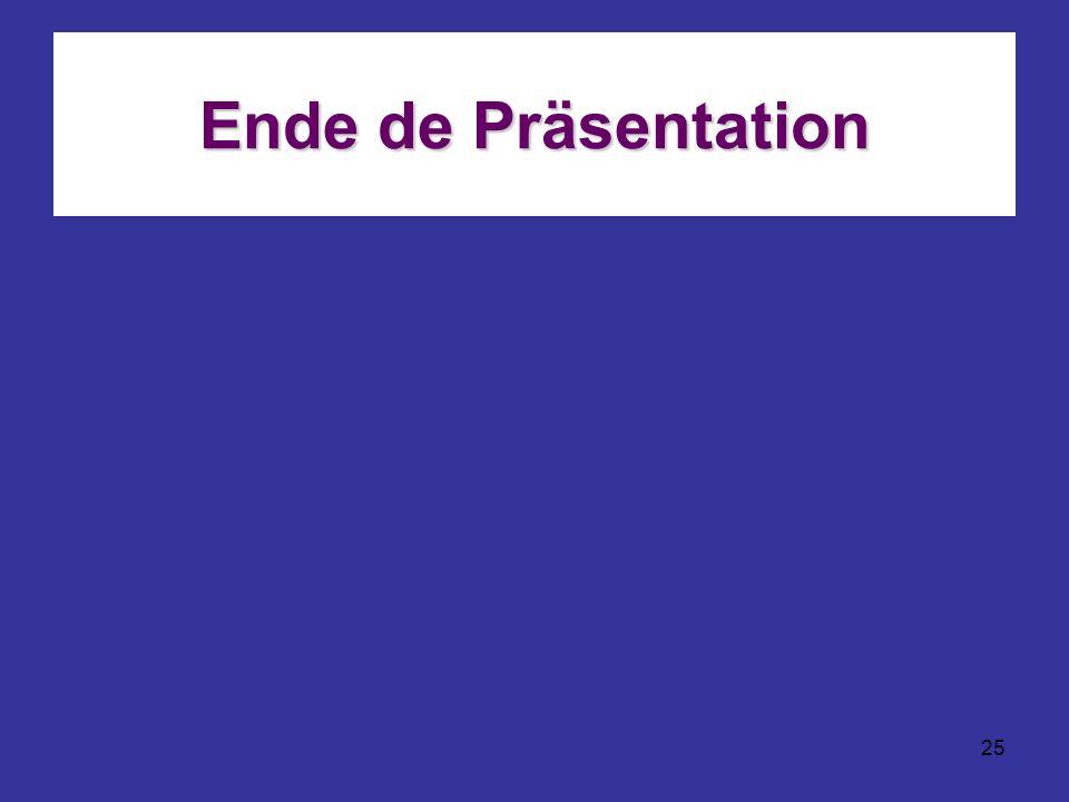 Ende de Präsentation