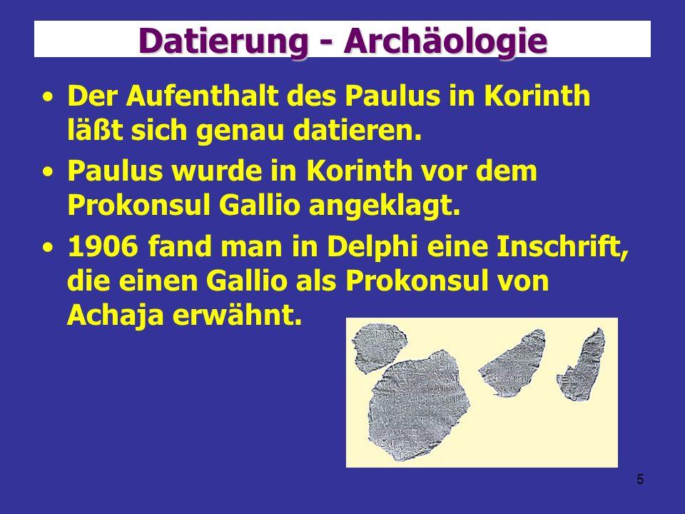 Datierung - Archäologie