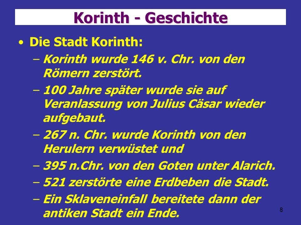 Korinth - Geschichte Die Stadt Korinth: