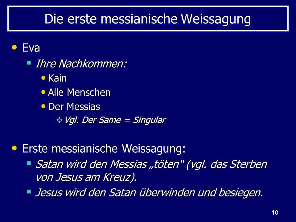 Die erste messianische Weissagung