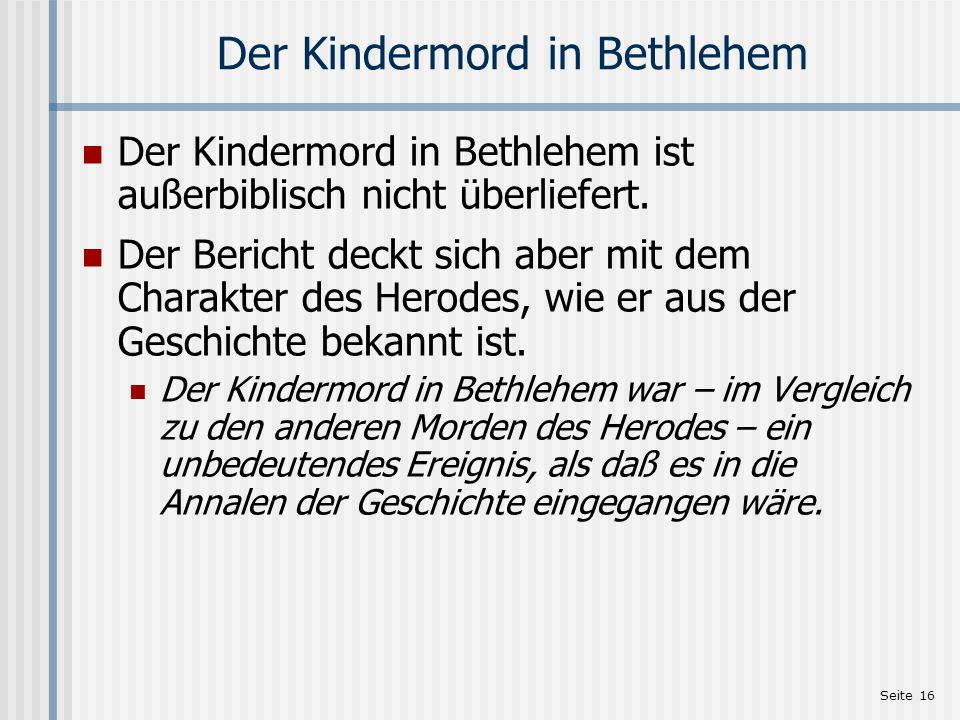 Der Kindermord in Bethlehem