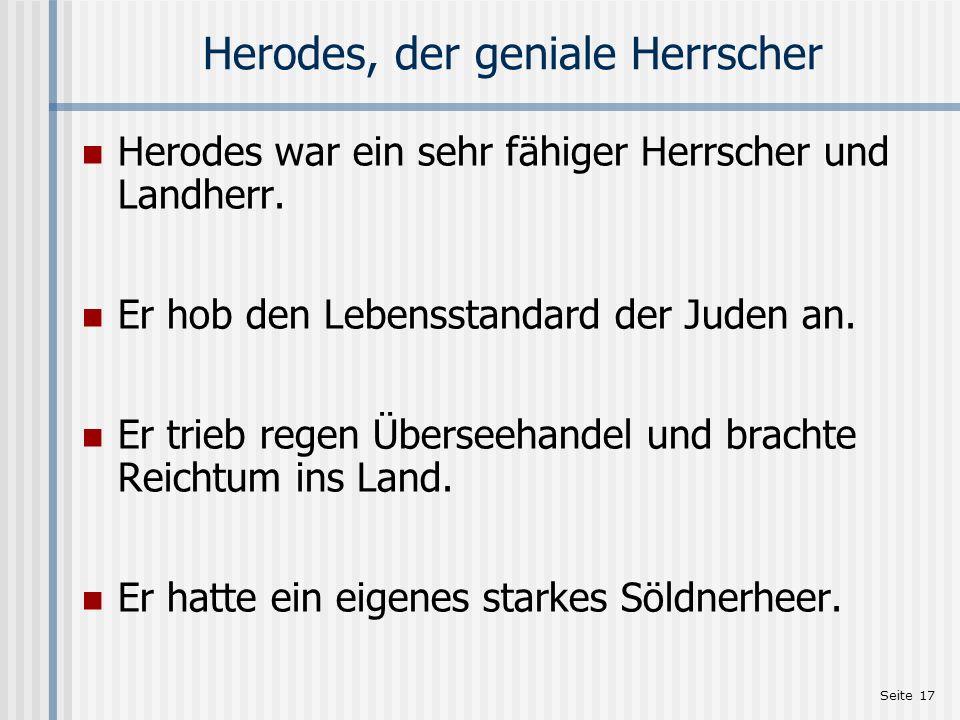 Herodes, der geniale Herrscher