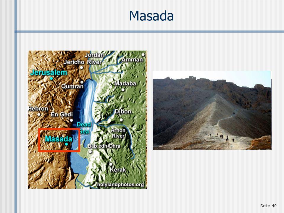Masada http://www.holylandphotos.org Einleitung zu Mt 2,1-23