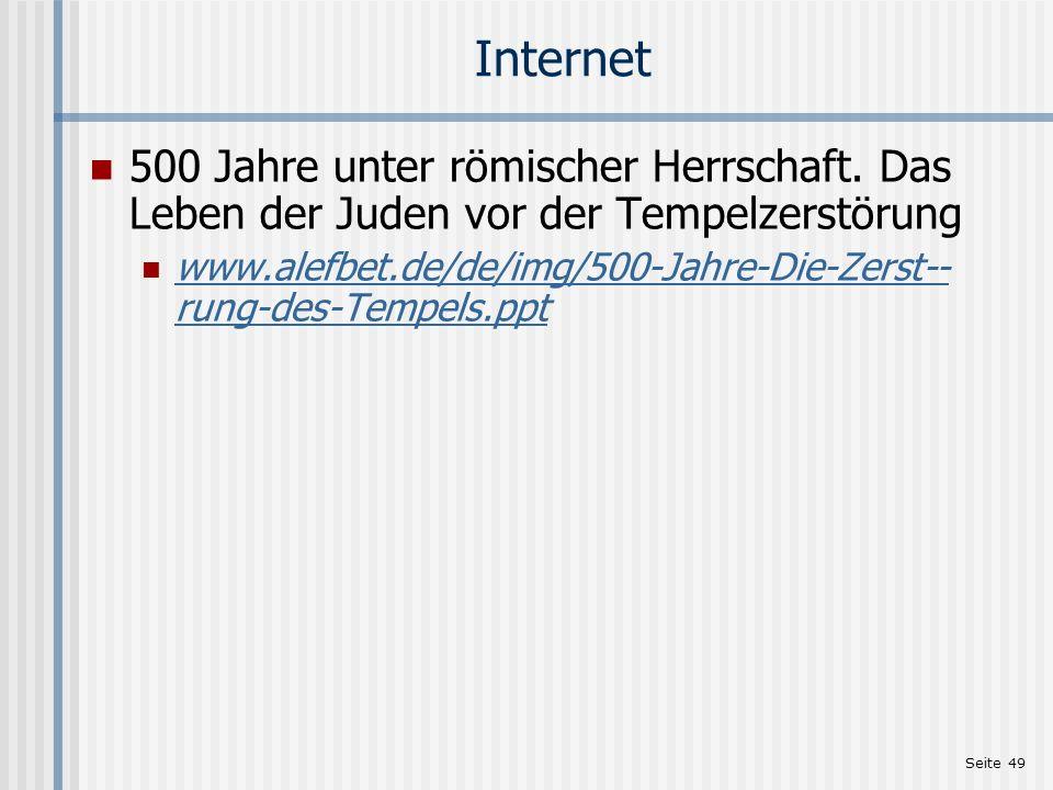 Internet 500 Jahre unter römischer Herrschaft. Das Leben der Juden vor der Tempelzerstörung.